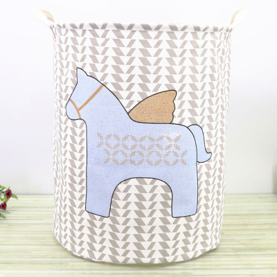 LASPERAL Waterproof Cotton And Linen Foldable Storage Bag Laundry Basket Multi-models Large-capacity Basket For Toys