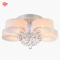 New Crystal Lamps Modern Minimalist Living Room Lights Led Ceiling Lights Round The Bedroom Upscale Atmosphere