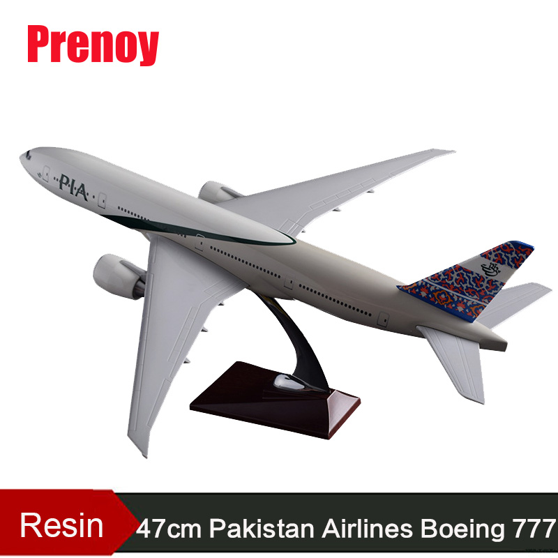 47cm Boeing 777 Pakistan Airplane Model B777 Airlines Airway Model PIA Resin Aircraft Model Pakistan Aviation Airbus Plane Model phoenix 11074 vietnam airlines vh a143 1 400 b777 200er commercial jetliners plane model hobby