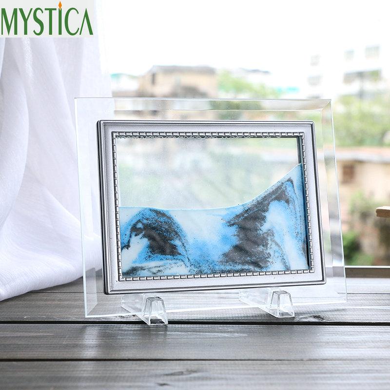 Hauptdekorationsglas Treibsand kreative Flusslandschaftsmalereigeburtstagsgeschenke Büro Wohnzimmer 3D Sanduhr Dekoration