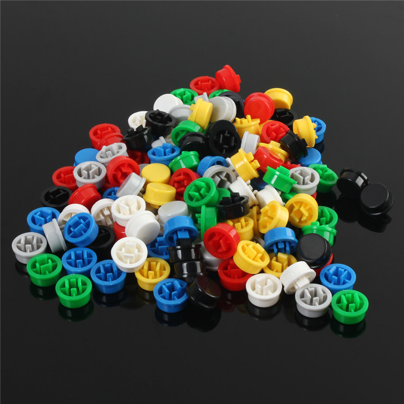 140pcs Round Mixed Color Tactile Button Caps Kit For 12x12x7.3MM Tact Switches Promotion Price tactile sensation imaging for tumor detection