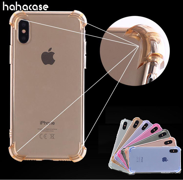 pretty nice f8dc5 6754d US $85.0 |100pcs Air Cushion Corners Shockproof Cover For iPhone XS Max XR  X 8 7 6 6S Plus SE 5 5S Soft TPU Clear Drop Protection Cases-in Fitted ...