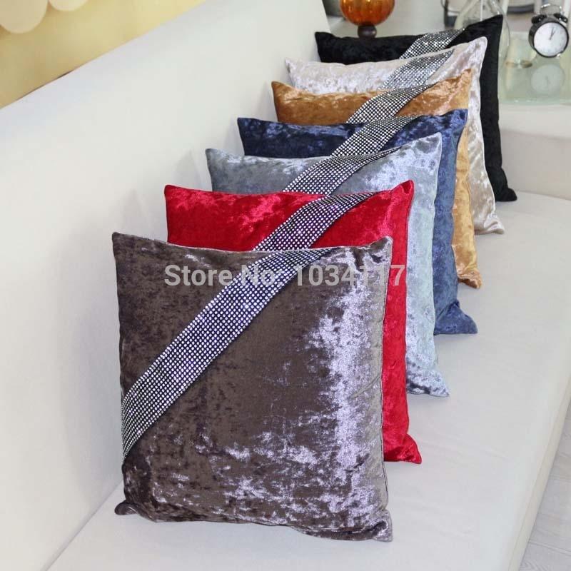 Aliexpress Com Buy High Quality Thick Flocked Modern: Fashion High Quality Thick Velvet Soft Fabric Rhinestone