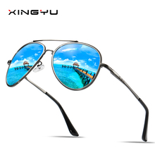 Mens Polarized Sunglasses Spring hinge Driving glasses Fishing sunglasses Big Fashion classic style