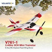 VOLANTEX V761 1 2.4Ghz 3CH Mini Trainstar 6 Axis Remote Control RC Airplane Fixed Wing Drone Plane RTF for Kids Gift Present