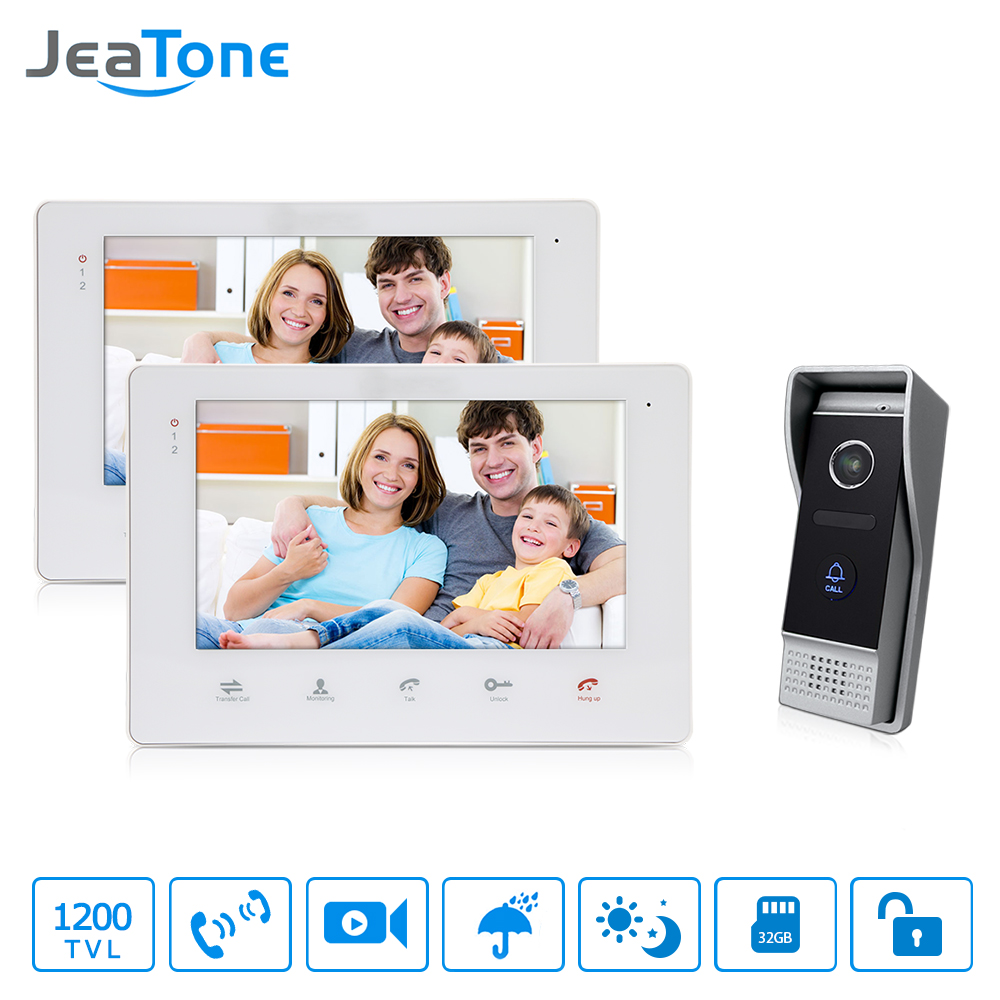 JeaTone 7 TFT Video Door Phone Monitor System 2 1 1200TVL View More Clearly Outdoor Calling