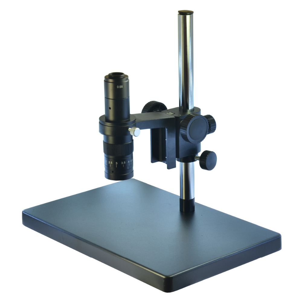 Industrial Microscope Big Heavy Duty Metal Boom Microscope Camera Table Stand 50mm Gear Ring Holder 180X Zoom C-mount Lens big size heavy duty adjustable boom large stereo arm table stand 50mm ring holder 300x lens for lab industry microscope camera