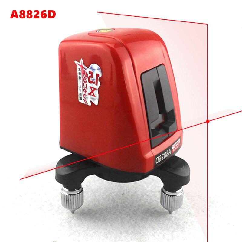 A8826D Laser niveau 2 ligne croix rouge 1 Point AK435 horizontal Vertival 360 rotatif auto-nivelant Nivel Laser outils de Diagnostic