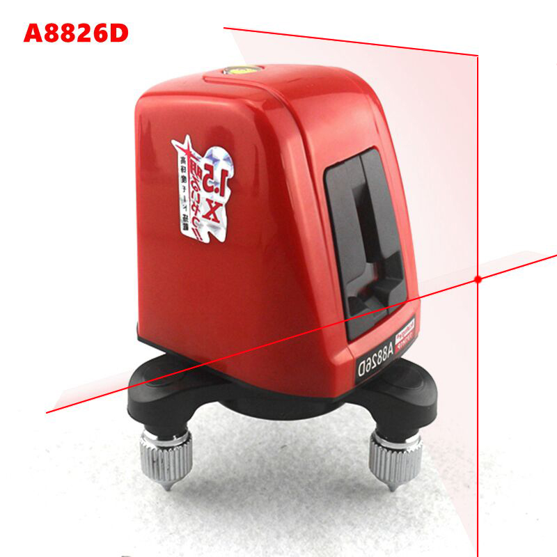 AcuAngle A8826D láser Nivel 2 de la Cruz Roja de la línea 1 punto de 360 grados de rotación de nivelación automática Nivel láser herramientas de diagnóstico AK435