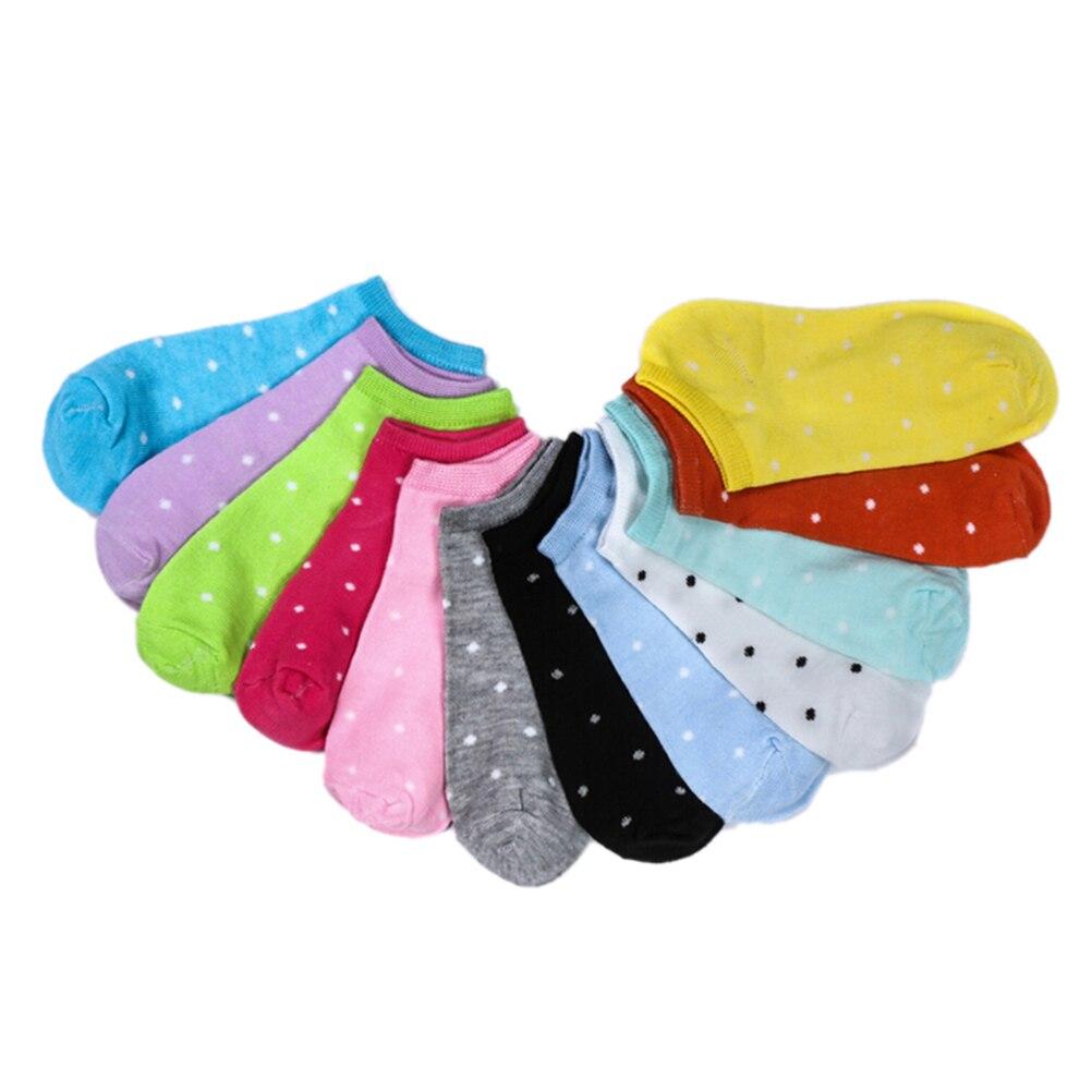 5 Pairs Cute Candy Color  Socks Girls Children Kids Heart Dot Solid Socks Lovely Cotton Socks For Girls