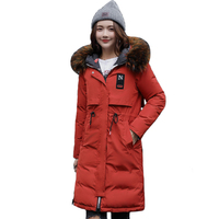 2018 High Quality Warm Thicken Winter Jacket Women Hooded Long Both Two Sides Can be Wear Female Parka Parkas Coat Cotton Padded