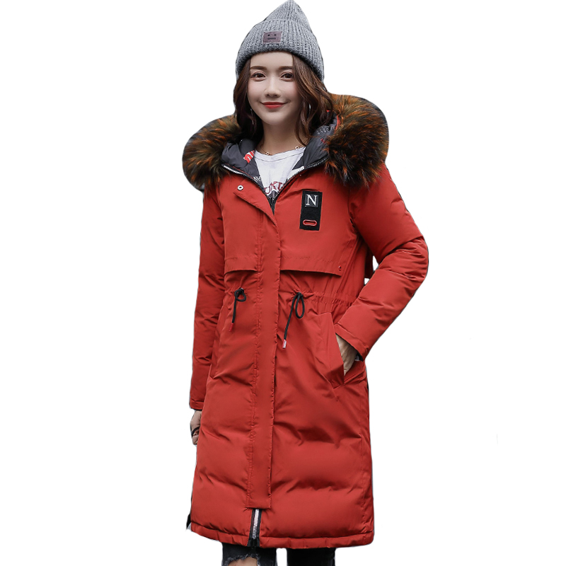 2019 High Quality Warm Thicken Winter Jacket Women Hooded Long Both Two Sides Can be Wear Female Parka Parkas Coat Cotton Padded