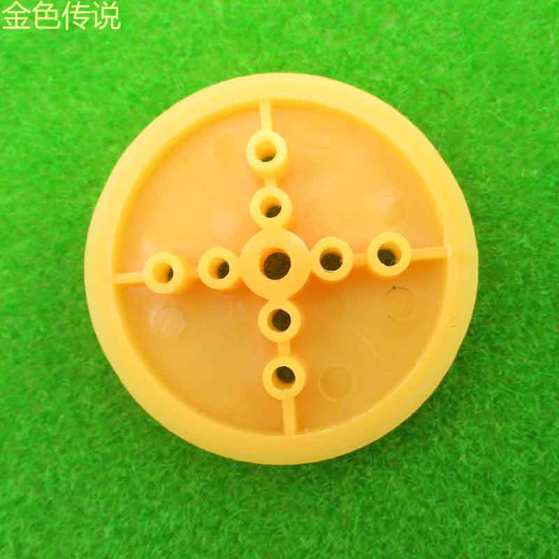 F17648 JMT 5pcs 36mm Yellow Plastic Pulley Large Pulley DIY Toy Model Wheel Accessory for Buggies Robot Spare Parts