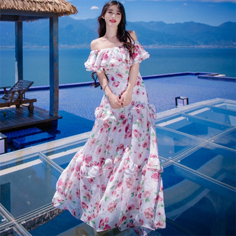New High Quality Explosions Leisure Vintage Elegant Party Dresses  Women Print Sleeveless Spring summer Casual Shirt Dress-in Dresses from Women's Clothing    1