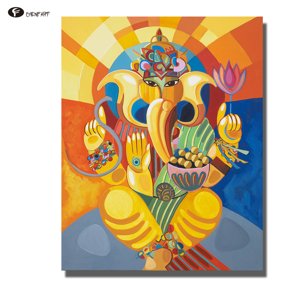 Canvas Wall Art Frame Home Decor Pictures 5 Pieces Hindu Ganesha ...