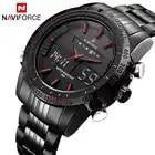 Роскошные Naviforce мужские модные спортивные часы мужские кварцевые цифровые аналоговые Мужские полностью Стальные наручные часы Relogio Masculino