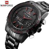 Marque de luxe NAVIFORCE hommes mode Sport montres hommes Quartz numérique analogique horloge homme plein acier montre-bracelet relogio masculino