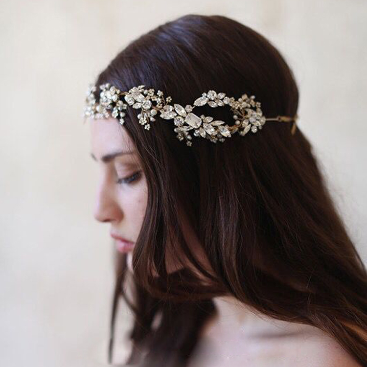 Baroque crown Gold/Silver Tiara Crystal Headband Vintage bridal hair accessories headwear accessories crown and tiara arte lamp a3421sp 1wh