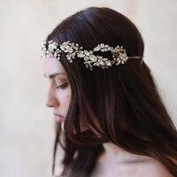 Baroque crown Gold/Silver Tiara Crystal Headband Vintage bridal hair accessories headwear accessories crown and tiara