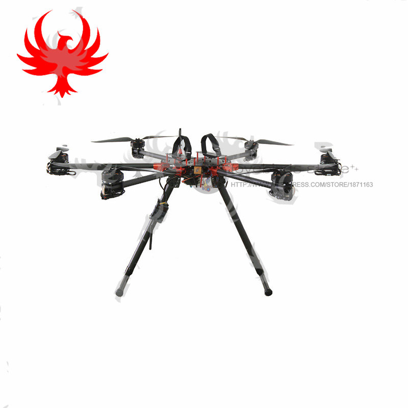 JMR-HF-820 industrial application purpose drone hexacopter folding pure carbon frame with power systems unassembled jmrrc h4 850 four axis folding frame flight platform aerial photography quadcopter for industrial application purpose drone