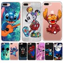 Luxury Stitch Mickey marvel For iPhone X XR XS Max 5 5S SE 6 6S 7 8 Plus phone Case Cover Funda Coque Etui capa Capinha