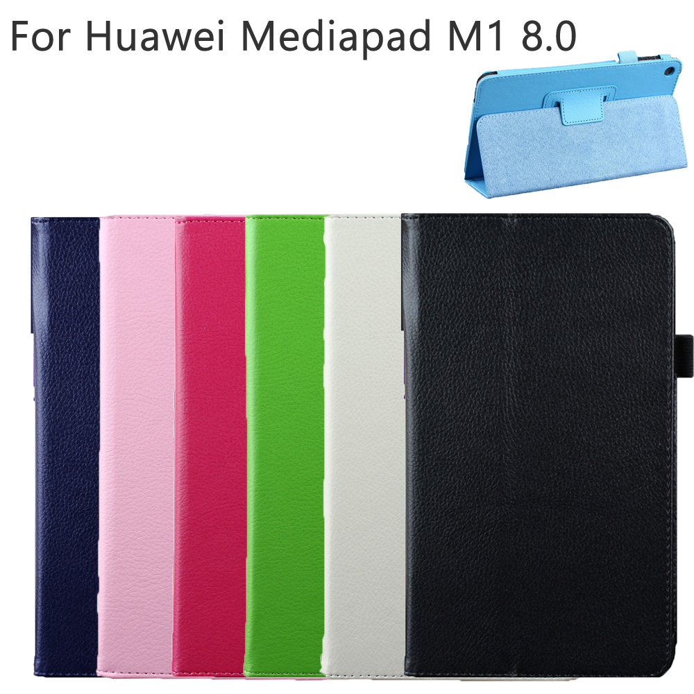 Hard PU Leather Fold Shell Skin Cover Case Smart Protective Holder For Huawei Mediapad M1 8.0 S8-301W 303L 301U Tab