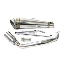 New Stainless Steel GP Exhaust Muffler System header exhuast pipe GP style muffler Fit for GY6 125cc 150cc Motorbike