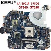 KEFU P5WE0 LA 6901P motherboard for acer 5750 5750G 5755 5755G laptop motherboard HM65 GT630M/GT540M original Test motherboard