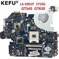 KEFU P5WE0 LA 6901P motherboard für acer 5750 5750G 5755 5755G laptop motherboard HM65 GT630M/GT540M original Test motherboard-in Motherboards aus Computer und Büro bei