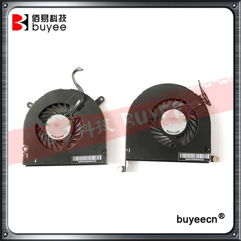 Original New A1297 Left with Right CPU Cooling FAN 2009 2010 2011 Year For Macbook Pro 17 Cooler 661-5043 661-5044 Replacement