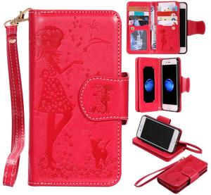 Image 2 - Luxury Leather Wallet Flip Phone Case for iphone 6 s 6s 7 8 Plus 6Plus 7Plus 8Plus X XS 5 5s SE 2020 Cover Makeup Mirror Casing
