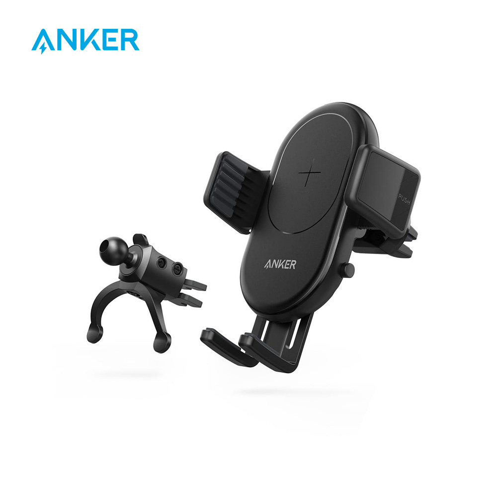 Anker PowerWave Fast Wireless Charger With Air Vent Phone Holder Qi Certified For IPhone,Galaxy ,LG And ALL Qi-Enabled Phones