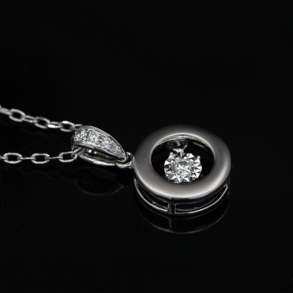 LASAMERO Halo 0.056CT 18k Gold Round Cut Square Center Pave Set Natural Diamond Pendant Necklace Chain Women Fine Jewelry цена в Москве и Питере