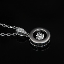 LASAMERO Halo 0.056CT 18k Gold Round Cut Square Center Pave Set Natural Diamond Pendant Necklace Chain Women Fine Jewelry