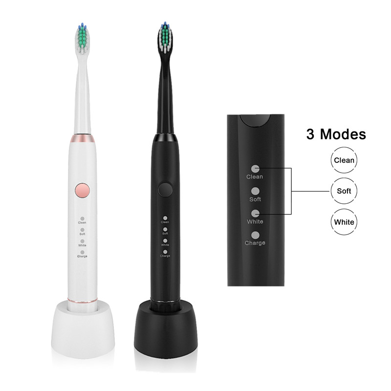 Sarmocare M100 Wireless Rechargeable with 4 brush heads Ultrasonic Electric toothbrush IPX7 Waterproof Whitening Teeth Brush