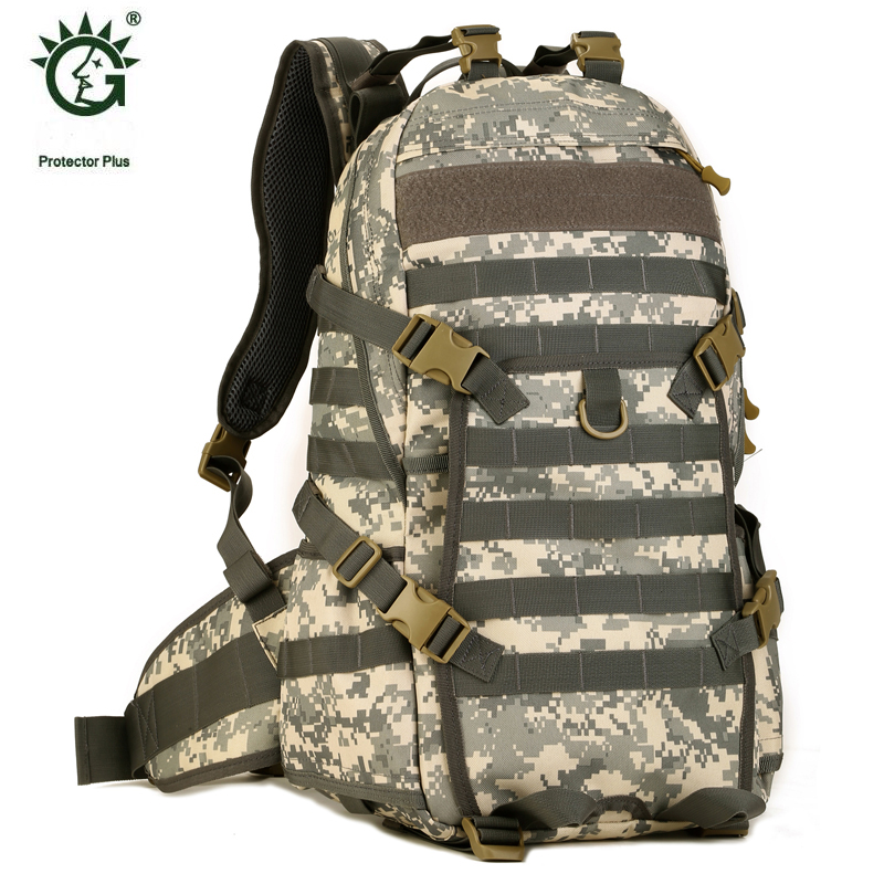 ФОТО Famous Brand 40L Outdoor Sports Military Molle Tactical Travel Backpack Bags For Walking And Hiking Camping Backpacks Bag