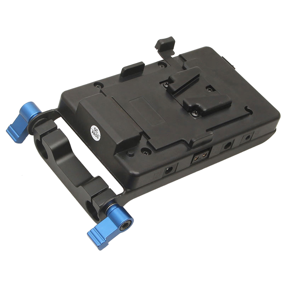 C009 battery plate for DLSR 5D2 5D3 7D 6D 60D Sony IDX 15mm rod clamp W11