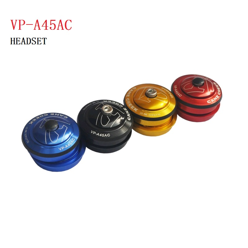 VP A45AC CNC Aluminum Alloy Built-in 44mm Bearing Headset For 28.6mm Front Fork MTB Road Bicycle Folding Bike SP8 bya412 mup8