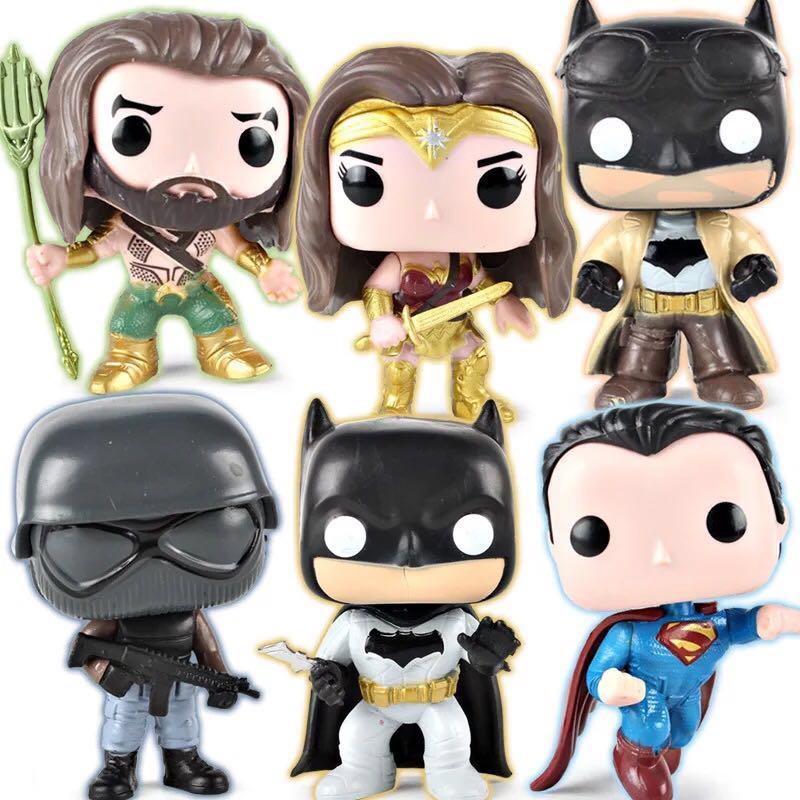 2018 NEW DC Wonder Woman Aquaman Knightmare Batman Superman Action POP Figure with Opp Bag