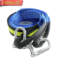 TOPAUTO Car Tow Rope U Hook 5m 8tons Trailer Hook Off Road SUV Trailer With Shackle