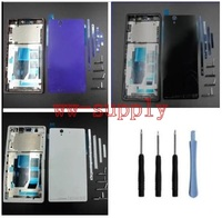 For Sony Xperia Z L36h C6602 C6603 Full Housing Front Chassis Frame Side Stripe Port Cover
