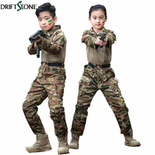 New Combat Uniform Kids Pants and Shirts Suit BDU Military Tactical Gear Hunting Multicam For Children