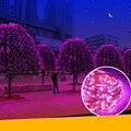 5 Color 39 ft 2 Modos 100 LED Solar Powered Luz de La Secuencia Impermeable Al Aire Libre Jardín Luz de la Secuencia, Solar Luces De Navidad