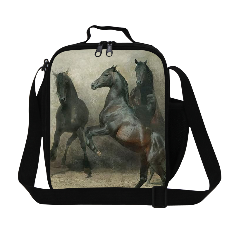 Cool Horse Pattern lunch bag for boys personalized thermal lunch box for kids,adults insulated food bag,reusable lunch container