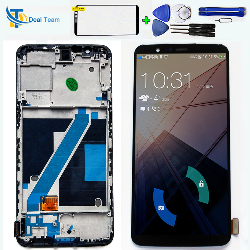 Optic AMOLED For Oneplus 5T A5010 6 01 inch Touch Screen Digitizer Assembly LCD display 2160