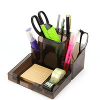 Office Desk Accessories Plastic Pen Holder Desk Organizer Pen Stand For Pens And Pencils