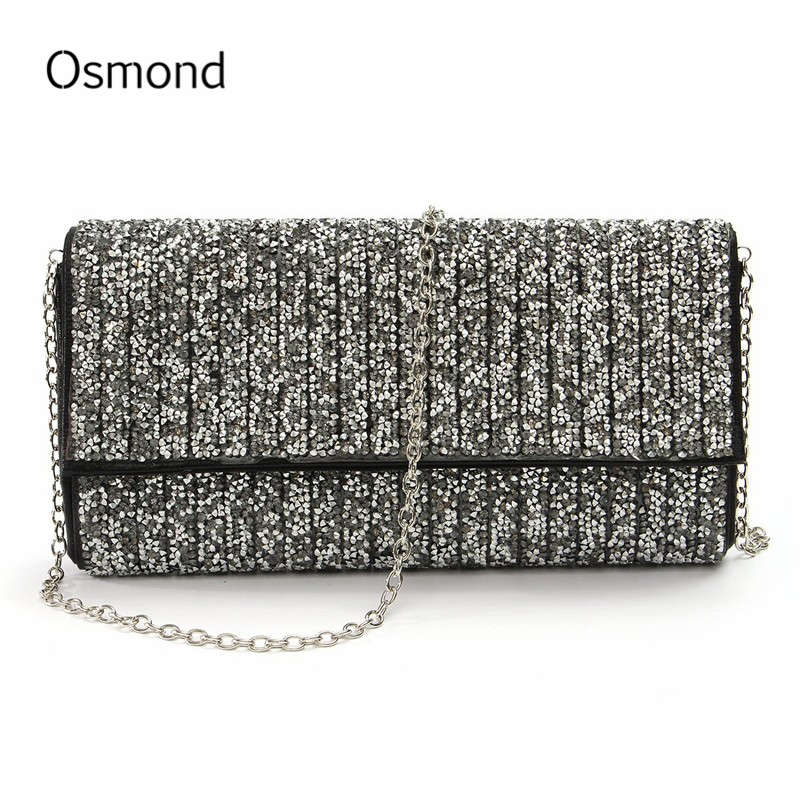 Osmond Woman Evening Bag Diamond Rhinestone Clutch Women Messenger Bags Crystal Day Clutches Wedding Party Banquet