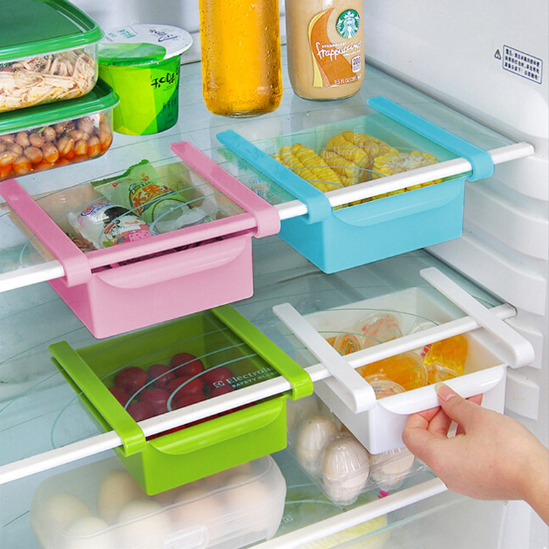 kitchen storage box slide fridge freezer food storage boxes pantry storage 3125