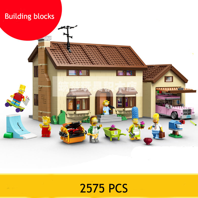 2575PCS movie series for Simp a big house children assembled building blocks small particles toy children's imagination gift small pineapple ru bun lock children puzzle toy building blocks
