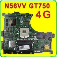 Original N56VV Laptop Motherboard For Asus REV2 0 Mainboard GT740 4G PGA 989 HM76 Fit N56VM